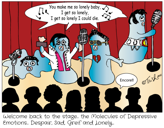 The Molecules of Depressive Emotions
