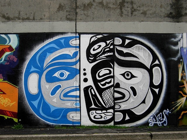 Graffiti piece on Granville Street bridge