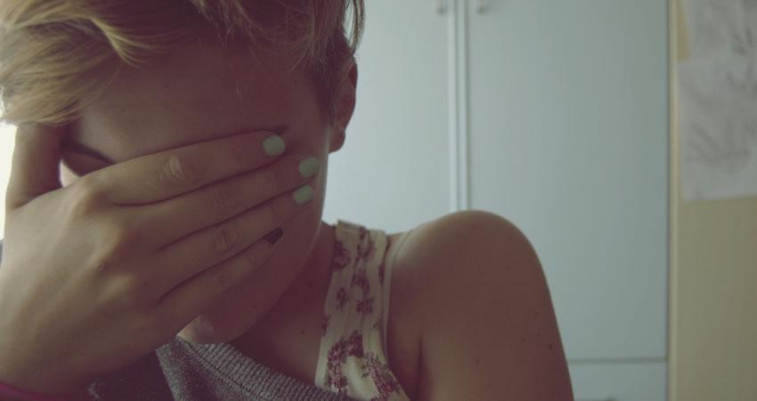 Girl in panic